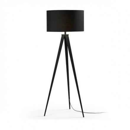 Lámpara de pie trípode UZAGI negro
