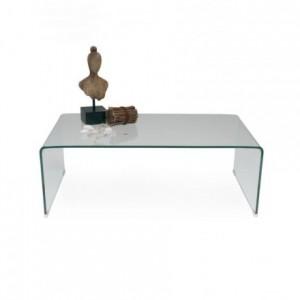 Mesa de centro de cristal curvado y templado de una pieza MURANO
