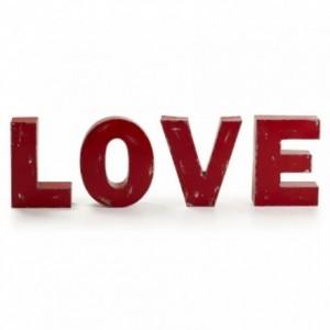 LOVE set de 4 letras decorativas