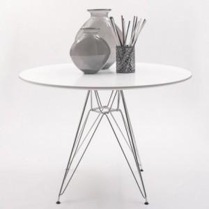 Mesa redonda de comedor/cocina inspiración TOWER de Eames 100x100 cm