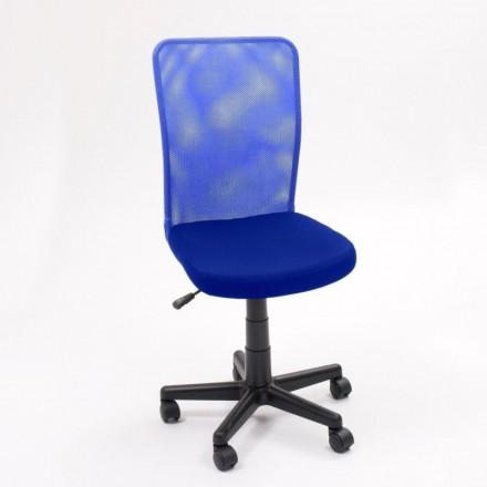 Silla de escritorio y estudio juvenil, giratoria con elevación y ruedas