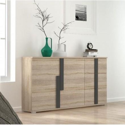 Mueble aparador de comedor LINK color roble 150x42 cm