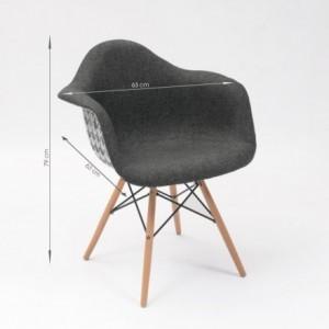 Sillón tapizado en pata de gallo MONET inspiración sillón Tower de Eames