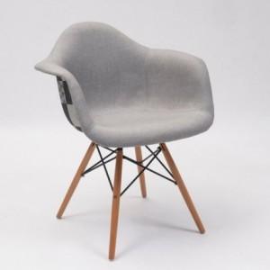Sillón tapizado estampado MONET inspiración sillón Tower de Eames