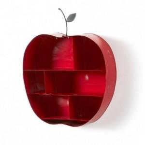 Estantería de metal con forma de manzana BENET