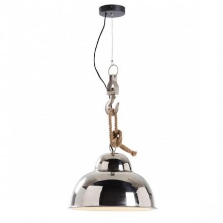 Lámpara de techo inspiración industrial GINGER níquel