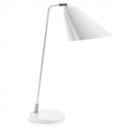 Lámpara de mesa PRITI metal blanco