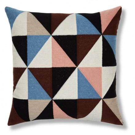 Cojín multicolor de algodón RENAUD 45x45