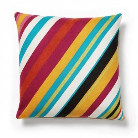 Cojín TIP de algodón bordado multicolor
