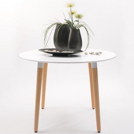Mesa de comedor diseño nórdico NORDIK 100 cm diámetro