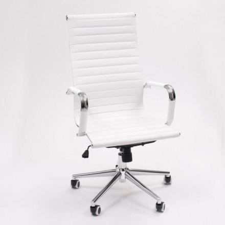 Sillón de despacho Manager de inspiración Charles y  Ray Eames. Tapizado PU