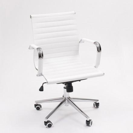 Sillón de despacho Manager Lowest de inspiración Charles y Ray Eames. Tapizado PU