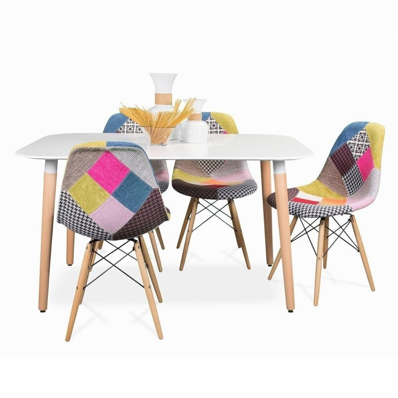 sillas tapizadas comedor patchwork