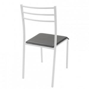 Pack de 4 sillas de cocina PARIS asiento de pvc y estructura de metal