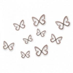 Set de 8 mariposas 3D para decoración de pared. UMBRA flitterbye wall decor