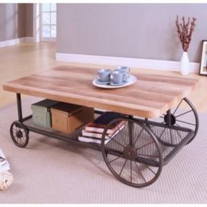 Mesa de centro de estilo vintage RULES con revistero 120x59 cm