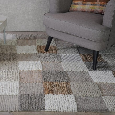Alfombra de patchwork tejido multicolor UTOPIC 160x230 cm