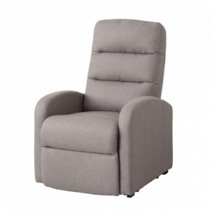 Sillón relax BIRMANIA tapizado tela gris con mecanismo relax eléctrico
