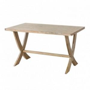 Mesa de comedor NASSAU madera de olmo acabado envejecido