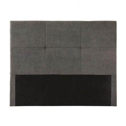 Cabecero VIGO tapizado en tela capitoné color gris 160 cm