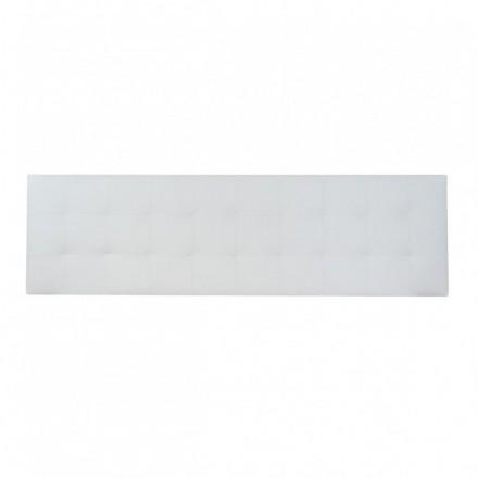 Cabecero BRUJAS tapizado en polipiel color blanco/choco 150 cm