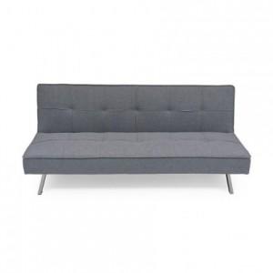 Sofá cama de 3 plazas apertura clic-clac KOHTAO tapizado en tela gris de 176 cm