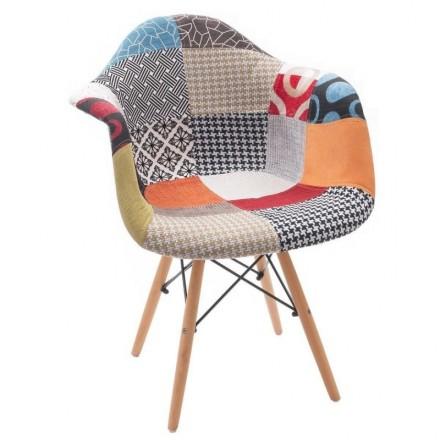 Sillón de diseño nórdico-vintage PATCHWORK COOL Tower,  Inspiración sillón Tower Eames