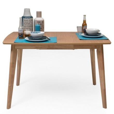 Mesa de comedor extensible de diseño nórdico MELAKA roble