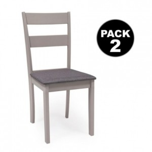 Pack de 2 sillas DALLAS gris
