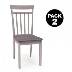 Pack de 2 sillas KANSAS gris