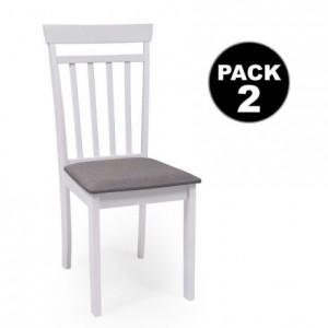 Pack de 2 sillas KANSAS blanco