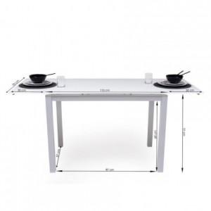 Conjunto de mesa de cocina extensible con 4 sillas PARIS WHITE
