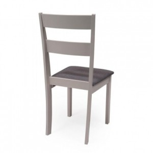 Conjunto de comedor DALLAS GREY mesa de comedor redonda extensible y 2 sillas de comedor