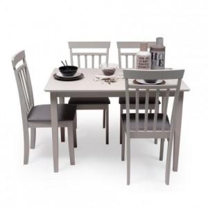 Conjunto de comedor KANSAS GRAY mesa y 4 sillas de comedor color gris