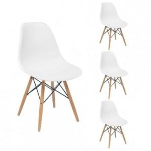 Juego de 4 sillas de comedor MAX inspiración silla Tower de Eames