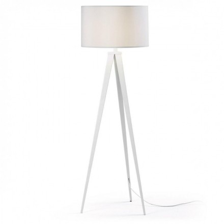 Lámpara de pie trípode UZAGI blanco