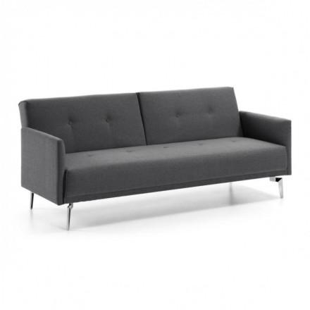 Sofá cama de 3 plazas FLORA color gris claro de 200 cm