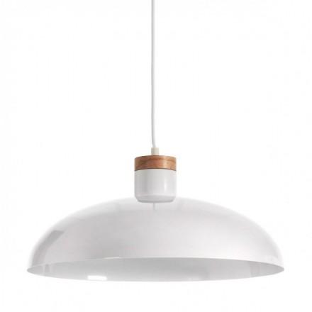 Lámpara de techo metálico MARGOT blanco puro haya