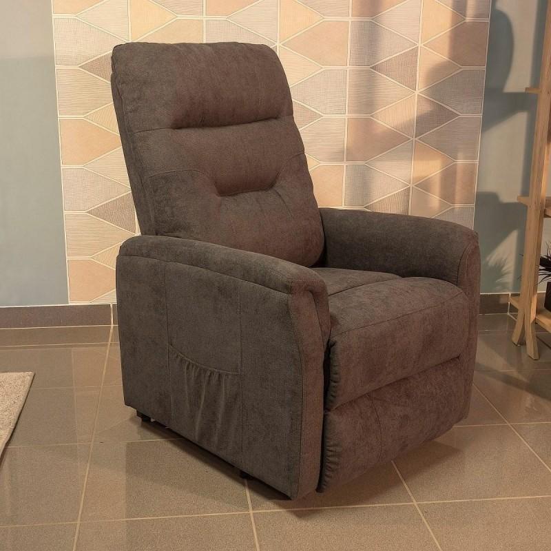 Sillón relax con Power Lift SOUL tapizado en tela con mecanismo relax eléctrico