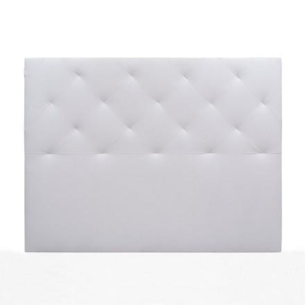 Cabecero CHOCOLATE BLANCO tapizado en polipiel color blanco 150 cm