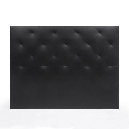 Cabecero CHOCOLATE NEGRO tapizado en polipiel color negro 150 cm