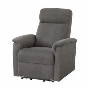 Sillón relax ZARPO tapizado tela gris con mecanismo relax eléctrico power lift