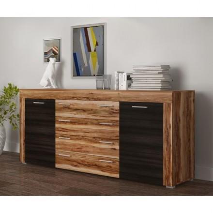 Mueble aparador de comedor BOOM II color manzano y pino larico 177x40 cm
