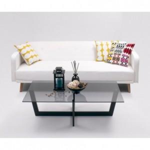 Sofá cama de 3 plazas GREGOR color blanco puro de 210 cm