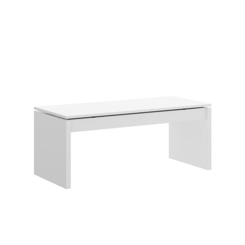 Mesa de centro elevable SLOW tablero de partículas melaminizado color blanco brillo o natural 99x60x41/53 cm