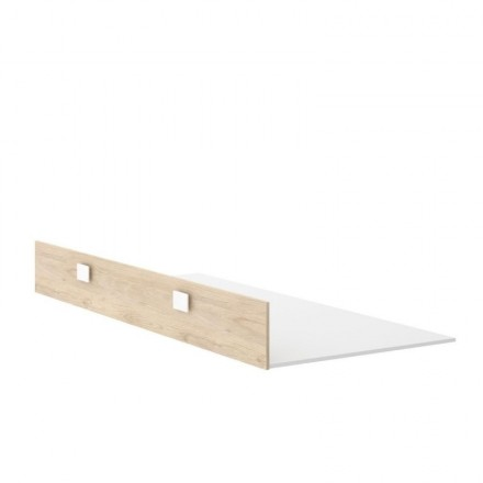 Arrastre para cama juvenil DINA tablero de partículas melaminizado color blanco natural 190x93x25 cm