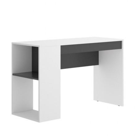Mesa escritorio juvenil TEO tablero de partículas melaminizado color blanco/natural o grafito/blanco 115x50x74 cm