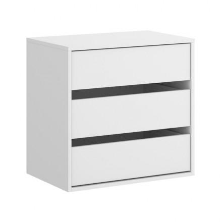 Cajonera interior de tres cajones para armarios SLIDE / ESSEN color blanco 60x60x45 cm