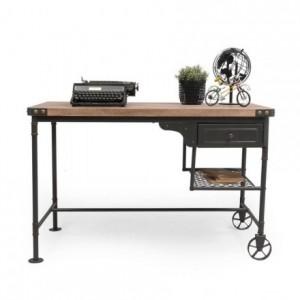Mesa escritorio de estilo vintage SEATTLE con cajón 120x63 cm